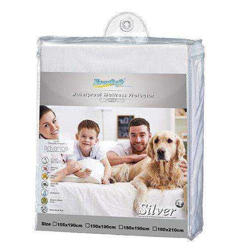 【Eversoft®寶貝墊】銀離子抗菌、防水、透氣、防螨保潔墊-雙人150cm*190cm (K00003)