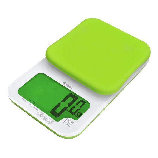 dretec 「戴卡」超大螢幕微量LED廚房料理電子秤2kg-綠色 (KS-262GN)