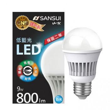 【山水】9W 全電壓LED燈泡(兩色)白/黃光