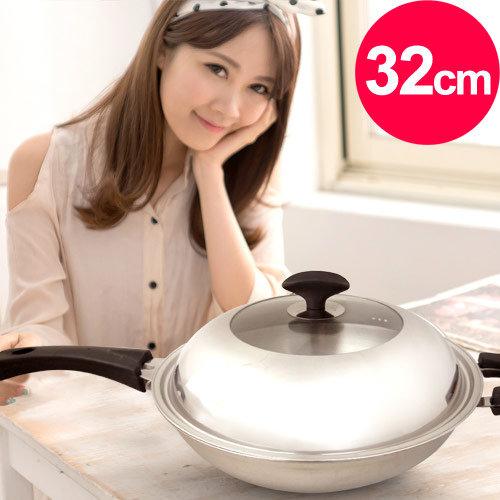 【清水】透視七層複合金炒鍋32CM (MF0246A)
