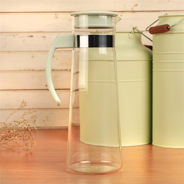 【Artist精選】紫羅蘭耐熱玻璃冷熱兩用水壺1100ml-粉綠 (MF0393)