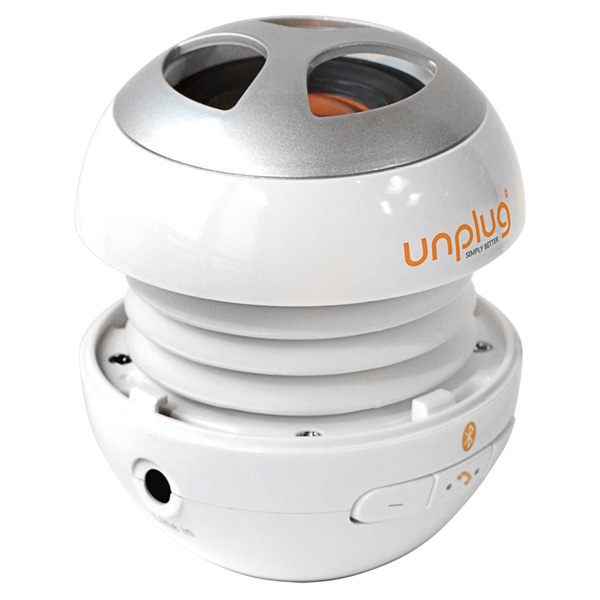 【Unplug法國工藝】miniBox攜帶型藍芽喇叭(內建麥克風)-亮面白 (MINIBOX-WHITE)