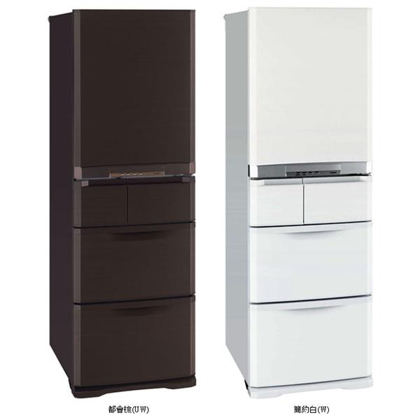 【MITSUBISHI三菱】420L日本原裝變頻五門電冰箱(兩色) (MR-B42T)