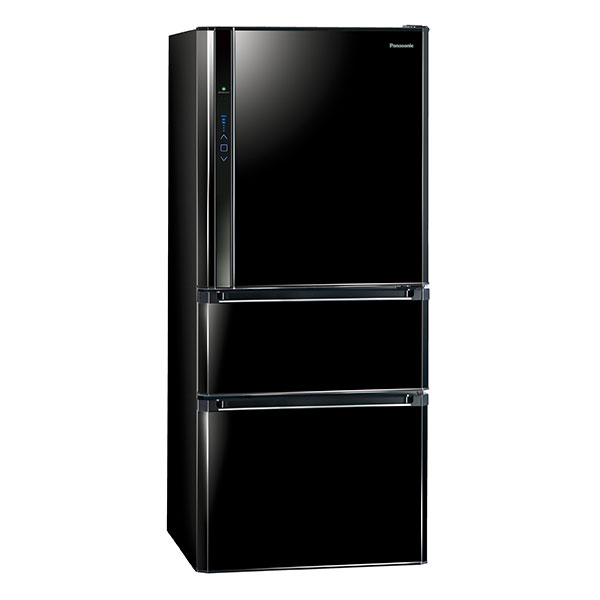 【Panasonic國際】變頻三門冰箱610L-光釉黑 (NR-C618HV-B)