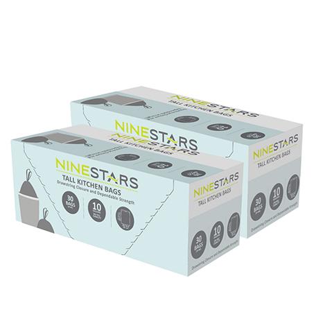 綠恩家 美國NINESTARS 專業收納垃圾袋40L-超值二入組 (NSTB-10-30SET2)