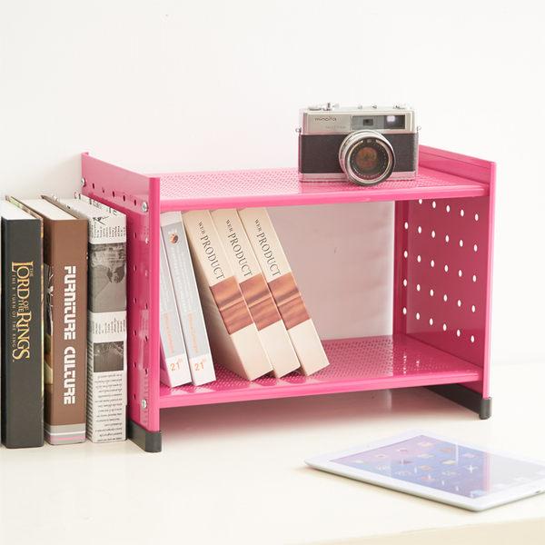 【ikloo宜酷屋】貴族風可延伸式組合書櫃/書架一入(桃粉紅) (OA125-A)