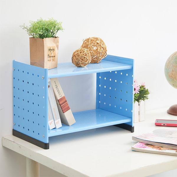 【ikloo宜酷屋】貴族風可延伸式組合書櫃/書架一入(天空藍) (OA125-B)