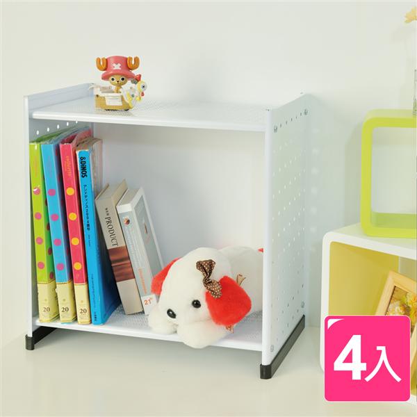 【ikloo宜酷屋】貴族風延伸式組合書櫃-加高版4入(2色可選) (OA133-4)