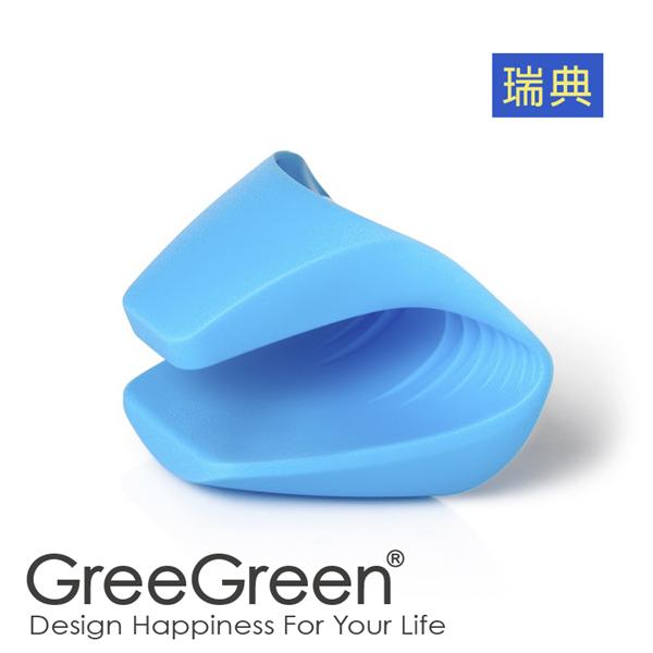 【瑞典GreeGreen格力綠】料理防燙防滑手套-藍色 (P000805)