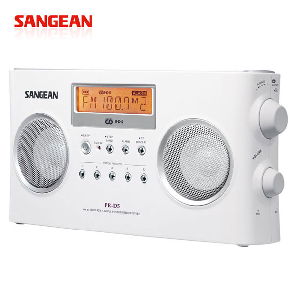 【SANGEAN山進】二波段數位式時鐘收音機 (PR-D5)