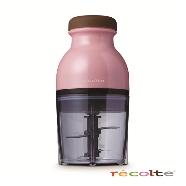 【recolte 日本麗克特】Quatre 時尚小型冰沙食物調理機-粉 (RCP-PR)