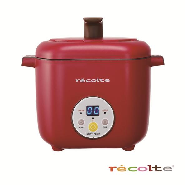 【recolte 日本麗克特】Healthy CotoCoto微電鍋-櫻桃紅 (RHC-R)