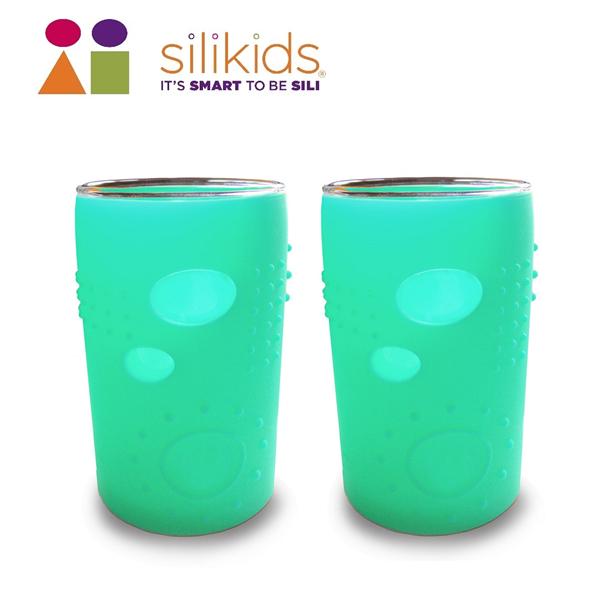 【silikids】大小孩玻璃果凍杯180cc-水晶綠 (S10-010-02)