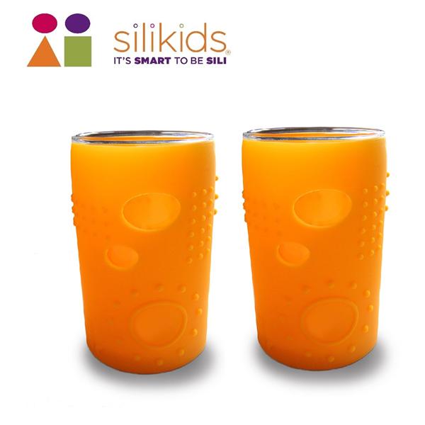 【silikids】大小孩玻璃果凍杯180cc-甜漾橘 (S10-010-04)