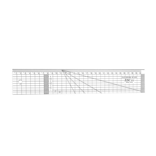 【日本車樂美JANOME】專業防刮拼布尺31x5cm (S191413EDC5310)