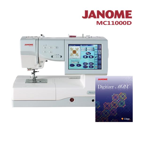 限時↘優惠組合【日本車樂美JANOME】MC11000刺繡縫紉機加送刺繡軟體組合 (S191413MC11000D)