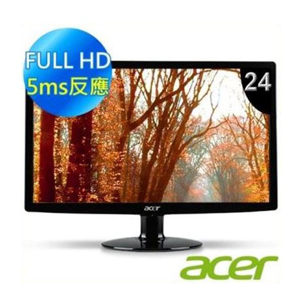 【Acer宏碁】螢幕LED(24型/VGA/DVI) (S240HL-BD)