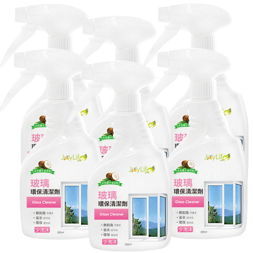 【JoyLife】玻璃天然清潔劑500ml-6入 (SP0162BM)