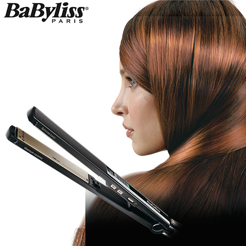 【Babyliss】鈦金陶瓷24mm專業直髮夾-黑色 (ST87W)