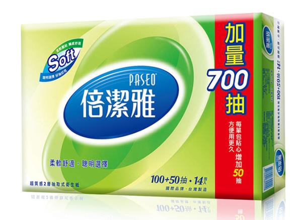 【PASEO倍潔雅】超質感抽取式衛生紙150抽×14包×6袋/箱 (T1D5P-N)