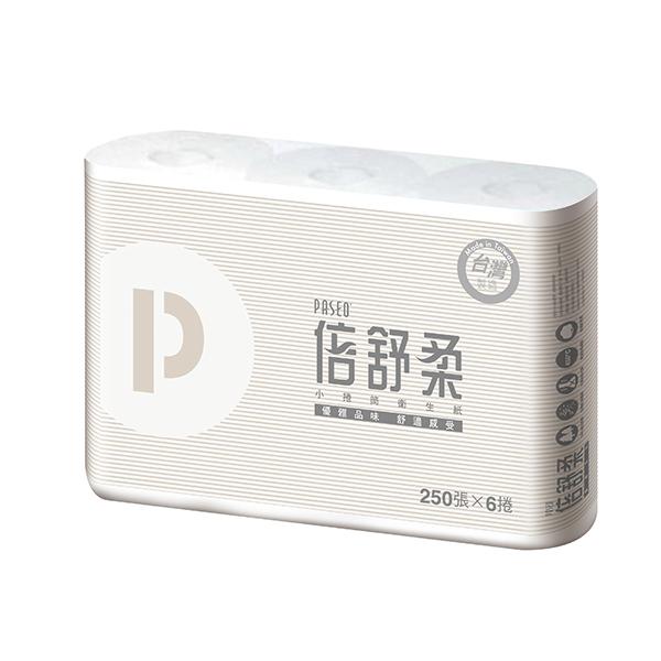 【Paseo 倍舒柔】優雅捲筒衛生紙(250節X96捲/箱) (T216P)