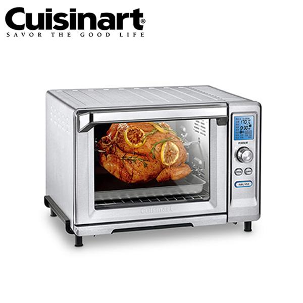 【Cuisinart美膳雅】微電腦不鏽鋼旋風式22L大烤箱 (TOB-200TW)