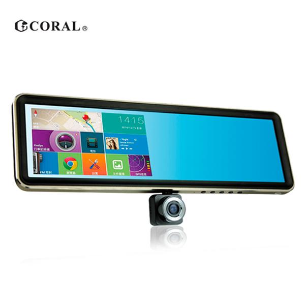 【CORAL】後視鏡型導航行車紀錄多功能智能機旗艦版-送8G卡 (TP-968)