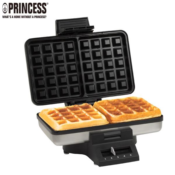 ☆本月特價↘【Princess荷蘭公主】二厚片方形鬆餅機-銀色 (TPRHA132392)