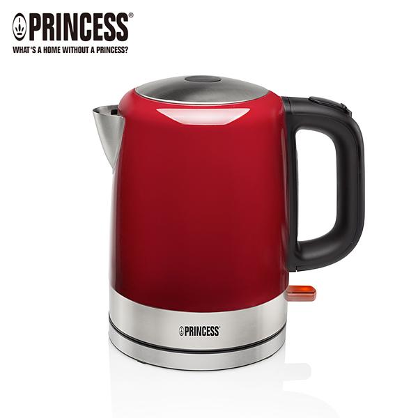 ☆本月特價↘【Princess荷蘭公主】1L不鏽鋼快煮壺-紅 (TPRHA236000R)