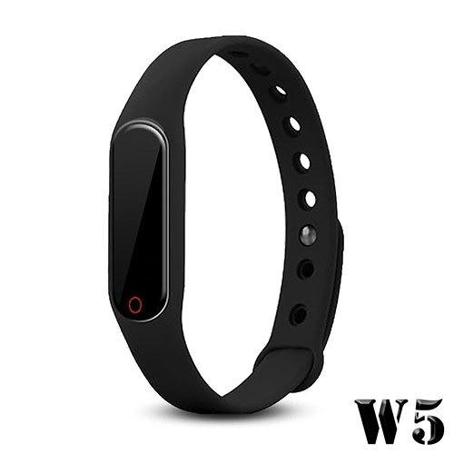 【長江】觸控多功能藍芽心率手環-黑色 (W5)