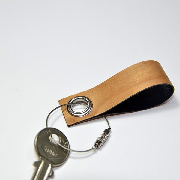 一郎木創 - 木革鑰匙圈(櫻桃) (WG-002-2)