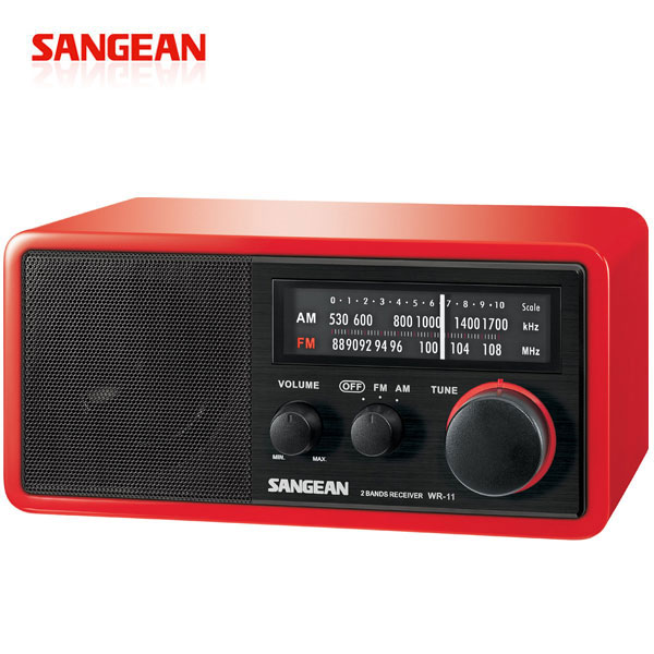【SANGEAN山進】復古收音機-紅 (WR-11-RD)